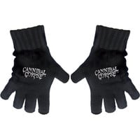 Cannibal Corpse Logo Knit Gloves Black