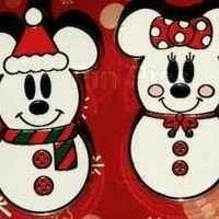 Disney Mickey Mouse and Minnie Mouse as Snowmen Pin 73429