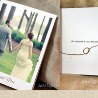 Tying the knot photo thank you card, wedding thank you card, Photo thank you card, picture thank you cards, Tying the knot cards set of 25