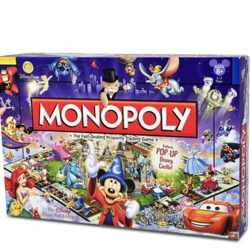 disney parks monopoly game III edition with 6 tokens figment mickey new sealed