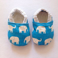 Blue Elephant Bootie, Baby, Infant, Elephant, Bootie, Walker, Shoes, Baby Boy, Baby girl,
