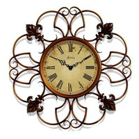 """Infinity Instruments Province- 24"""" Metal Wall Clock"""