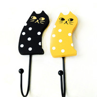 Pastoral Style Cats Hook Hanger Weathered Magnet [6256375750]