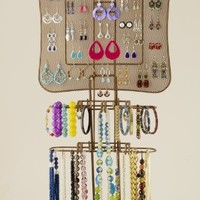 Organizing Jewelry Valet by Longstem. Wall mount or on included table stand in Bronze - Longstem is the mark of Quality!