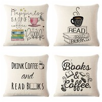 Summer Chair Decorative Watercolor Style Yarn Book Reading Sofa Decorative 45Cmx45Cm Square Sofa Bed Printed Pillow Cover
