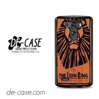 The Lion King Broadway Musical For LG G3 Case Phone Case Gift Present YO