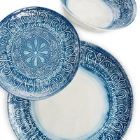 Maison Versailles Castleware Melamine Blue Collection