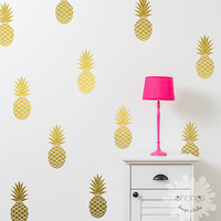 Pineapple Wall Decal / Large 12 Pineapples Sticker / Home decor / Party Decor / Nursery Wall Decal