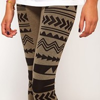 River Island Aztec Panel Legging at asos.com