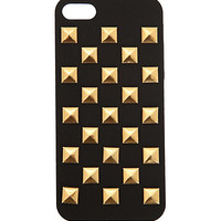 Black And Gold Stud iPhone 5 Case