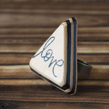 Love Leather Ring #Black