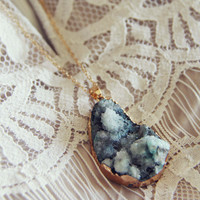Stonefrost Necklace in Sage