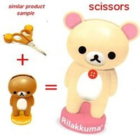 San-X Rilakkuma Scissors with Stand: Little Bear