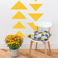 Wall Decal Geometric Triangle Abstract Symbol Trending Trendy Shape Geometry Ascending Descending