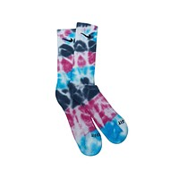 Nike Dri-Fit Tie Dye Pink Light Blue Gray White Socks