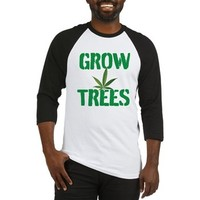 GROW TREES Baseball Jersey> Grow Trees> 420 Gear Stop