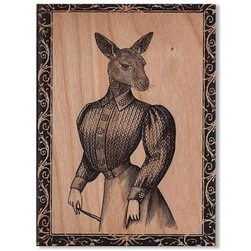 Wood Card Kanga