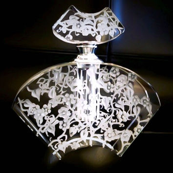 Floral Collection, Crystal Perfume Bottle Ornate