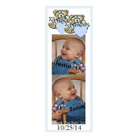 Twice Nice Boy Bookmark - Twin Boy Baby Bookmark - Photo Bookmark -  Laminated Bookmark - Unique Bookmark - Baby Keepsake - Heart Bookmark