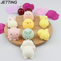 Squishy cat/Seal Lion/pig/rabbit/Cloud Cute squishies Slow Rising Soft Press Squeeze Kawaii Toy for Phone Straps Case
