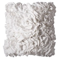 "Xhilaration® Jersey Ruffle Decorative Pillow - Sour Cream (16x16"")"