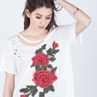 Lovely Rose Embroidered Tunic