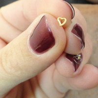 Gold Heart Nose Stud Nose Ring