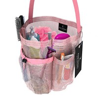 Premium Quality Shower Caddy Tote Bag - In Black or Pink - 4 Pocket Caddy to Hang in the Shower - With QuickDry Technology and Mold and Mildew Resistant Protection - Blush Pink