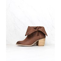 Final Sale - Sbicca - Nicola Fold-Over Boots in Brown
