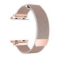 Noir Apple Watch Band 38mm, Stainless Steel Mesh Milanese Loop with Adjustable Magnetic Closure Replacement iWatch Band for Apple Watch Series SE 6 5 4 3 2 1 (38mm Rose Gold)