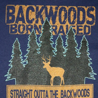 Southern Chaps Straight Outta The Backwoods T Shirt