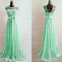 lace prom dresses, classy prom dress, mint prom dresses, prom dresses on sale, sexy prom dresses, cheap prom dress, long prom dress. PD025