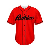 Classic Red Baseball Jersey