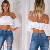 Felicity Double-Strapped Crop Top