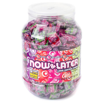 Now & Later Assorted Fruit Chews Candy: 60-Ounce Tub