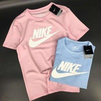 2018 New Candy Color Trending Women Men Short Sleeve Round Collar T-Shirt Top Blouse I