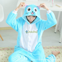 Fairy Tail cute Happy Cat animal Pajamas Winter Sleepwear robe cartoon pijamas unisex adults flannel Onesuits Cosplay Costumes