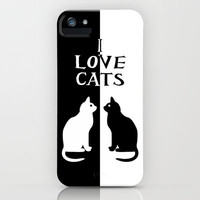 OPPOSITES LOVE: CATS iPhone Case by Alice Gosling   Society6