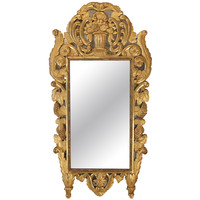 French mid 18th century, circa 1740, Provencial giltwood mirror