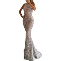 2019 New Party Dress Sexy Womens Sleeveless Halter Neck Bodycon Cocktail Prom Gown Dress