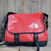 Vintage Waterproof Red The North Face Messenger Tool Bag