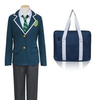 CREY6F Japanese Anime Makoto Shinkai New Movie Your Name Cosplay Costumes Tachibana Taki School Costume With Bag