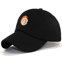 Trendy Winter Jacket New Rick and Morty Dad Hat Crazy Rick Baseball Cap American Anime Cotton Embroidery Snapback Anime lovers Cap Men Women sun hats AT_92_12