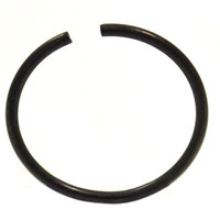 """Annealed(Bendable) Basic Black PVD/Stainless Steel Nose Ring Hoop - 20G 3/8"""""""