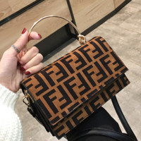 FENDI Leather Travel Bag Crossbody Shoulder Bag