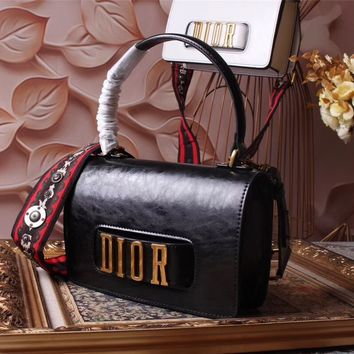 DIOR WOMEN'S 2018 HOT STYLE LEATHER HANDBAG INCLINED SHOULDER BAG