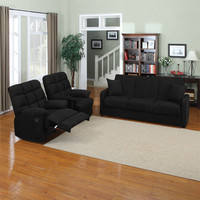 Walmart: Tahoe Convert-A-Couch Sofa Sleeper with Set of 2 Recliners, Multiple Colors