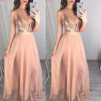 Catalina Mesh & Sequins Maxi