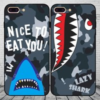 On Sale Iphone 6/6s Hot Deal Stylish Cute Apple Couple Black Matte Phone Case [11913466963]