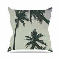 """Mary Carol Fitzgerald """"Rise Of Palms"""" Purple Photography Throw Pillow"""